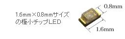 高品質な極小チップLEDを使用