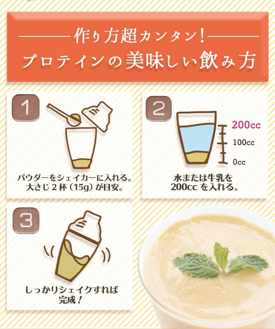プロテインの美味しい飲み方