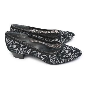 リーガル 靴 レディース パンプス F04L チュール メッシュ 刺繍