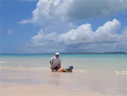 夏の宮古島にて。水も空気も透明で自然のエネルギーに満ち溢れていました。