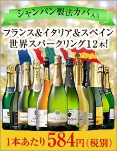シャンパーニュ製法カバを含む世界の泡12本セット 第23弾