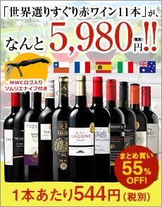 3大銘醸地入り!世界の選りすぐり赤ワイン11本セット 115弾