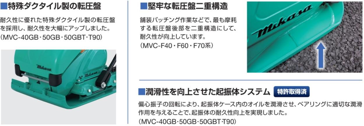 三笠産業プレートコンパクタ―説明1