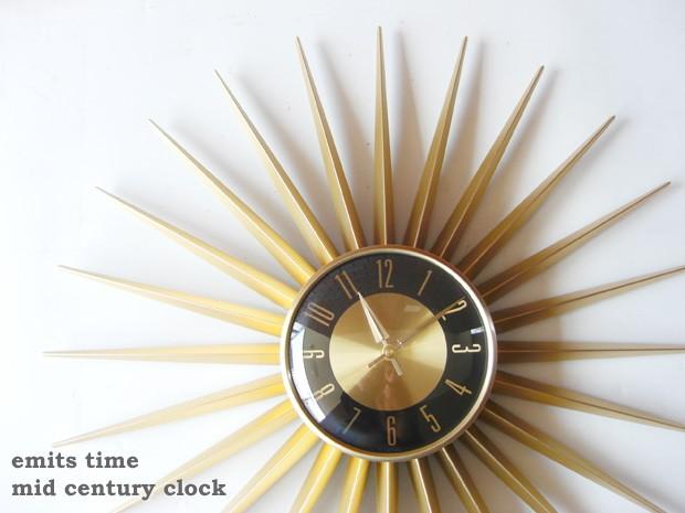 ミッドセンチュリー 時計 壁掛け時計 おしゃれ 掛け時計