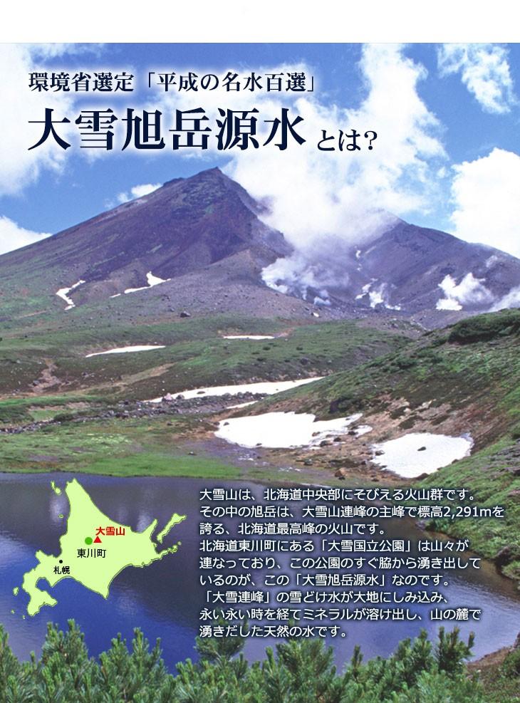 北海道 大雪旭岳源水 2リットル 12本(6本入り2ケース) のイメージ