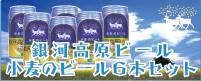 銀河高原小麦のビール6本セット