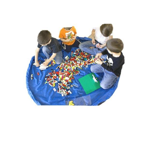 おもちゃ 収納袋 マット 自宅用 & 車内用 & 外遊びに 大小の2個セット レゴ ぬいぐるみ ブロック  150センチ 45センチ nagomi-company 08