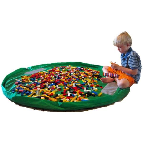 おもちゃ 収納袋 マット 自宅用 & 車内用 & 外遊びに 大小の2個セット レゴ ぬいぐるみ ブロック  150センチ 45センチ nagomi-company 06