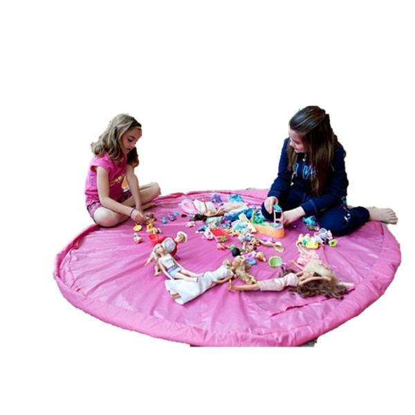 おもちゃ 収納袋 マット 自宅用 & 車内用 & 外遊びに 大小の2個セット レゴ ぬいぐるみ ブロック  150センチ 45センチ nagomi-company 07
