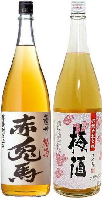 濱田酒造 赤兎馬 梅酒、白玉醸造 彩煌 梅酒