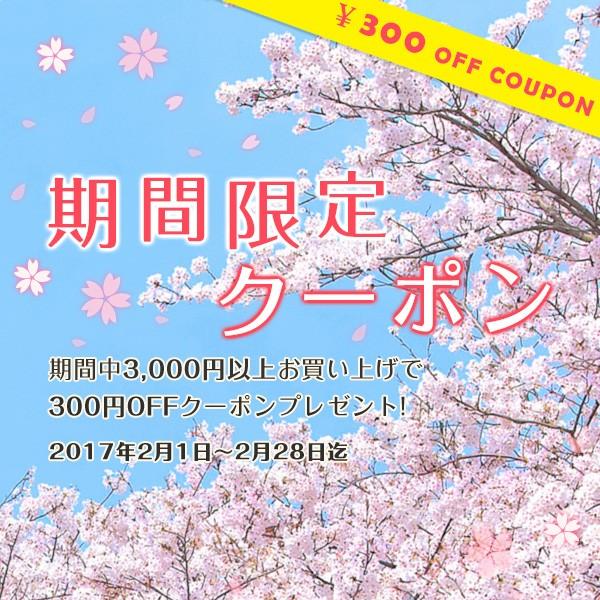 数量限定300円OFFクーポン
