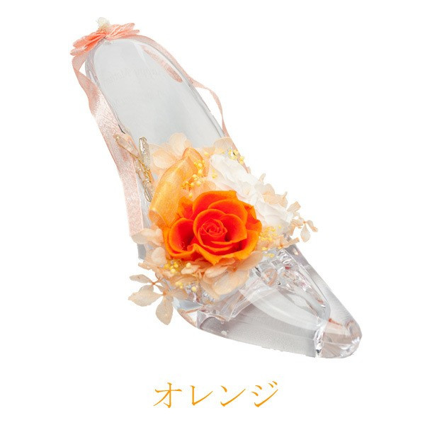 ガラスの靴 シンデレラの靴 プリザーブドフラワー 名入れ 彫刻 プロポーズ 結婚 誕生日 母の日 プレゼント お祝い|naireikkabo|11