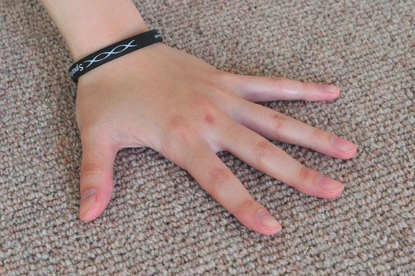 やわらかい手触りでサラッとしています。