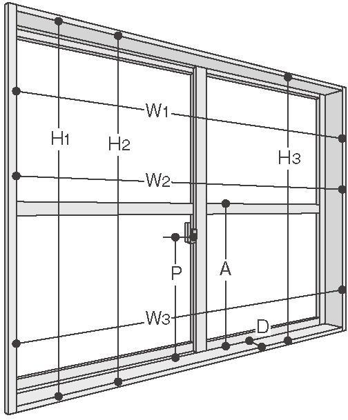 内窓 寸法の測り方