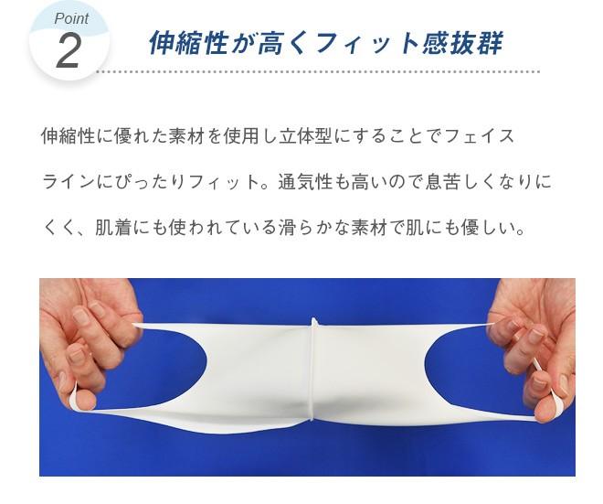 日本製の洗える立体ストレッチマスク