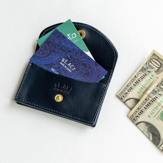 RE.ACT リアクト Solid Indigo Card Case ソリッドインディゴカードケース 名刺入れ カード入れ パスケース