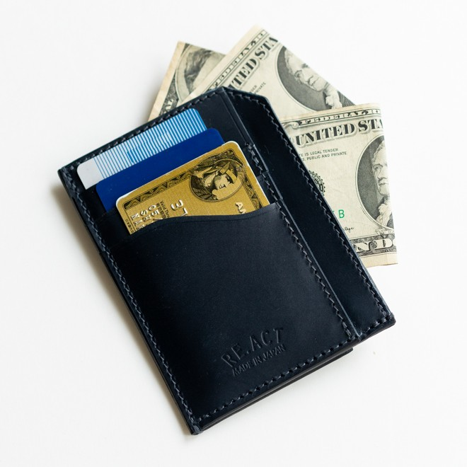 RE.ACT リアクト Solid Indigo Slim Wallet コンパクトウォレット スリムウォレット