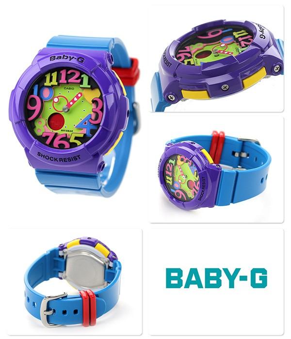 7baa518865b1 Casio Baby-G Neon Illuminator Ladies Watch BGA-131-6B   eBay