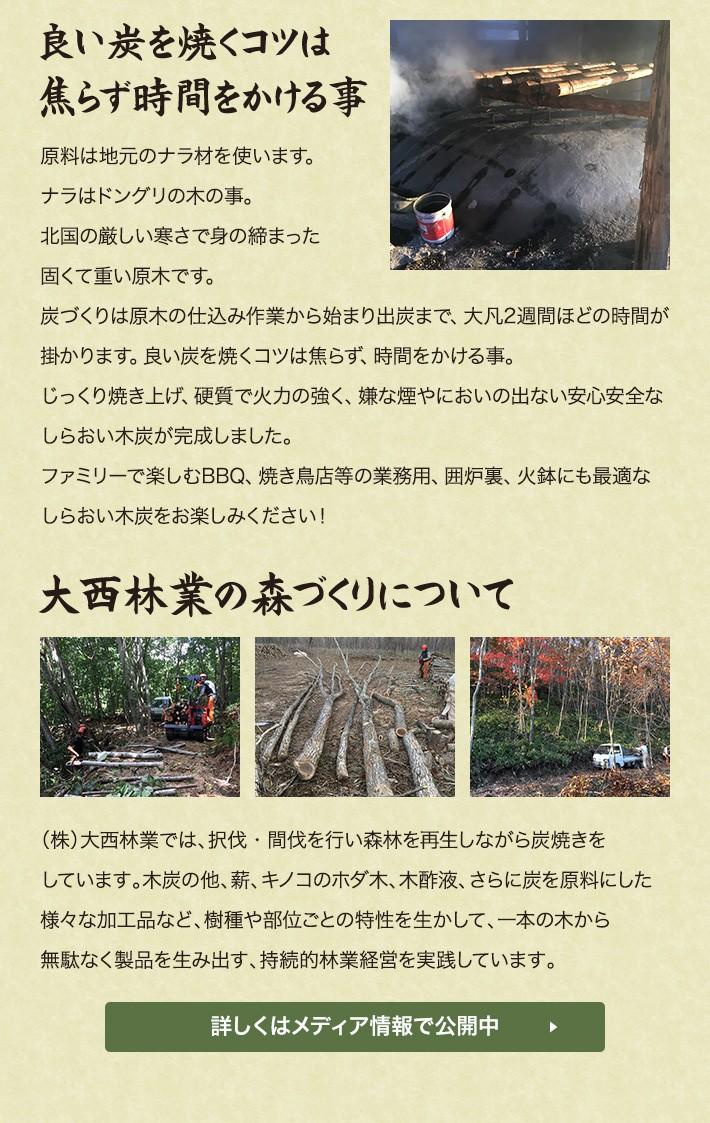 良い炭を焼くコツは焦らず時間をかけること〜大西林業の森づくりについて〜詳しくはメディアで公開中!