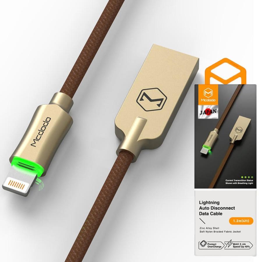 ライトニングケーブル 光る lightning iphone ながら充電防止 充電ケーブル 1.2m Mcdodo日本 一年保障 LED 過充電防止機能|native-fish-dreams|16