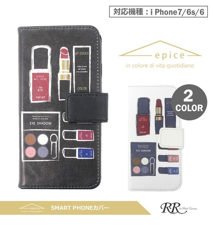 55b00886e8 epiceスマートフォンカバー 手帳型 スマホケース コスメ iPhone6/6s/7/8 ...