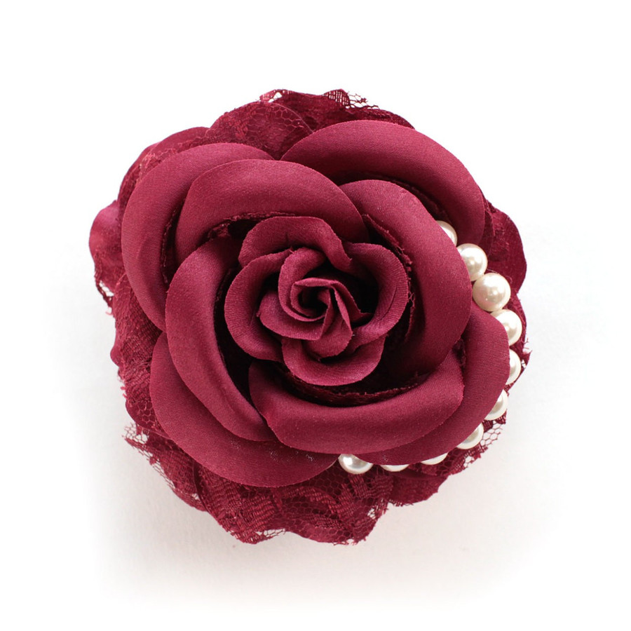 コサージュ パール付きローズコサージュ 花 ヘアクリップ付 フォーマル レディース|naturalberry|14