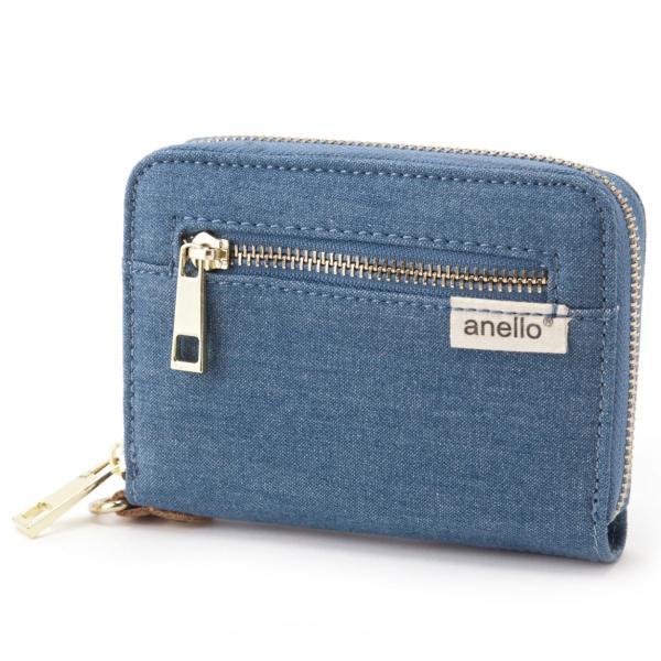 コットン ジップ折り財布 ポリキャンバス 布 コンパクト ラウンド財布 ウォレット アネロ anello AT-B0934 AT-B0193 シリーズ|naturalberry|07
