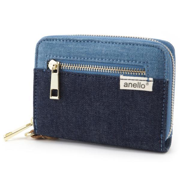 コットン ジップ折り財布 ポリキャンバス 布 コンパクト ラウンド財布 ウォレット アネロ anello AT-B0934 AT-B0193 シリーズ|naturalberry|09