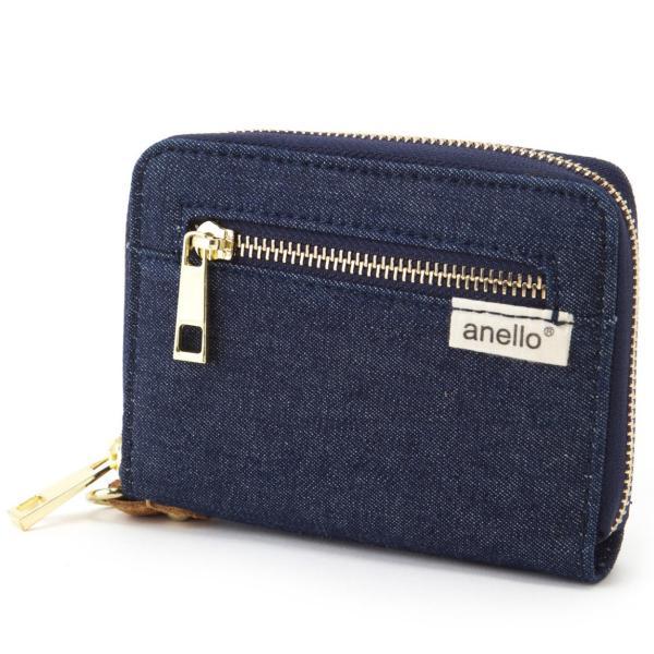 コットン ジップ折り財布 ポリキャンバス 布 コンパクト ラウンド財布 ウォレット アネロ anello AT-B0934 AT-B0193 シリーズ|naturalberry|08