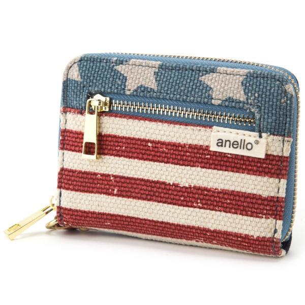 コットン ジップ折り財布 ポリキャンバス 布 コンパクト ラウンド財布 ウォレット アネロ anello AT-B0934 AT-B0193 シリーズ|naturalberry|10