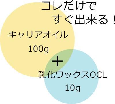 オイルクレンジング乳化ワックスOCL