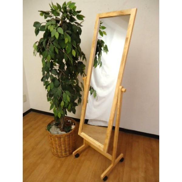 W-3015 キャスター付き 木製スタンドミラー   幅48cm 高さ150cm   日本製|naturalhousee|12