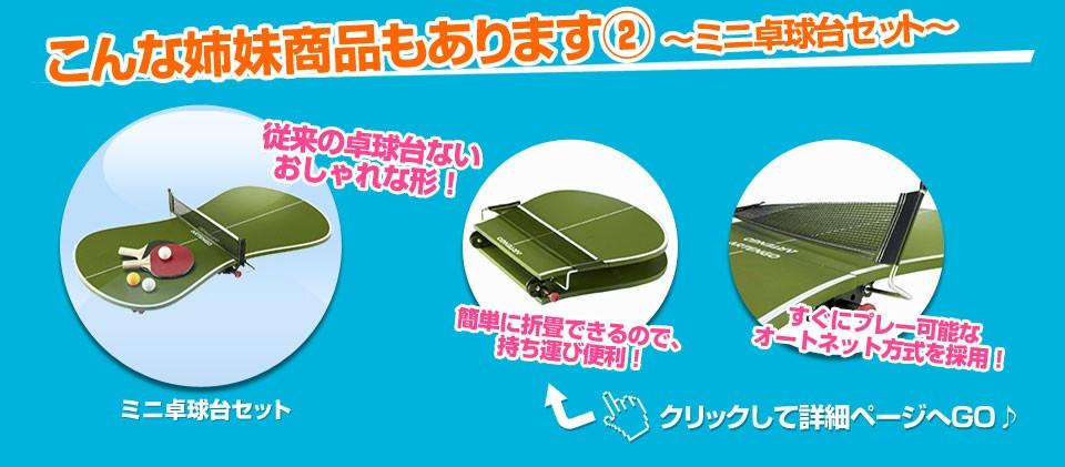 こんな姉妹商品もあります(2) 〜ミニ卓球台セット〜