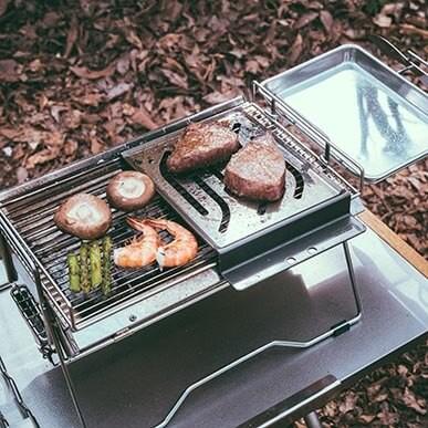 ちょっとした焼き料理を楽しみたい方にはこのセット!ソロキャンに最適!