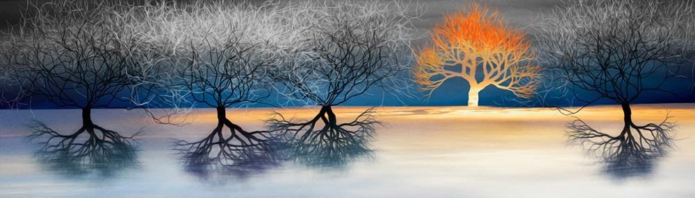 「夕映えの木」
