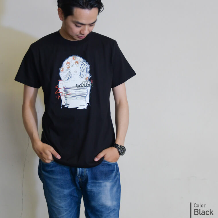 Stripe BASTARD 縞艶 アーティストコラボ和柄Tシャツ