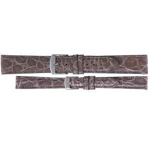 BAMBI バンビ エルセ ワニ革 カイマンシャイニング SWA007 12~20mm 11色 替えベルト メール便送料無料