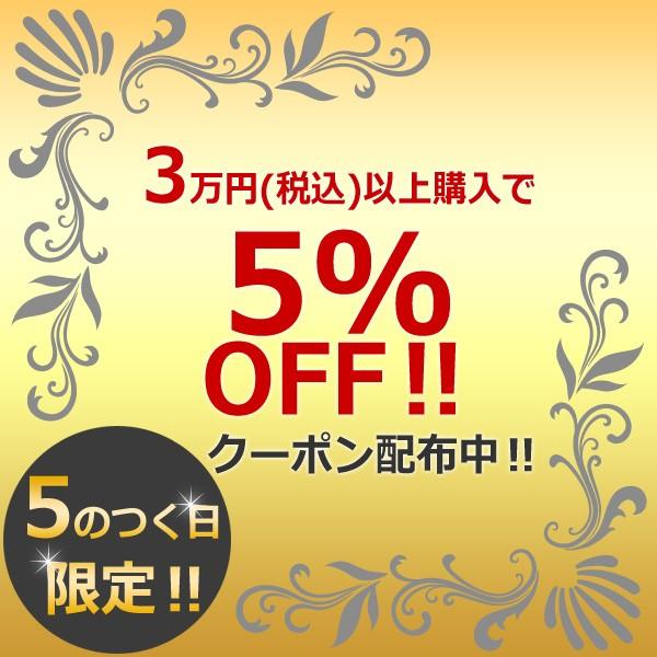 『5のつく日』限定!3万円以上購入で5%OFFクーポン♪