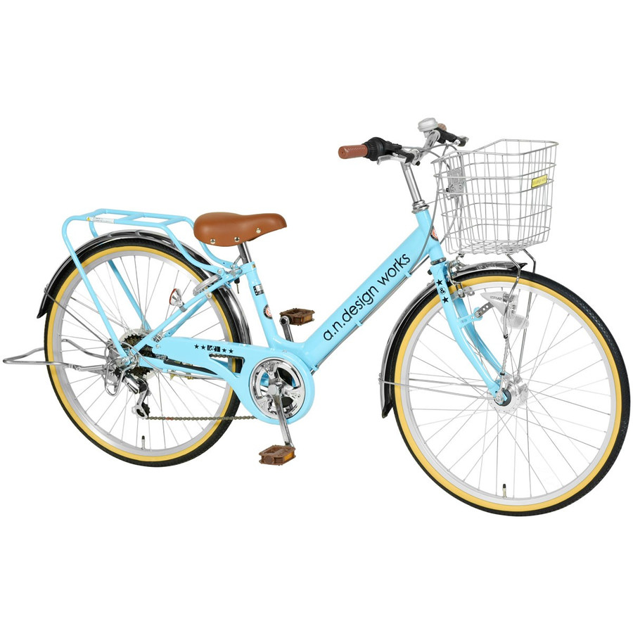 子供用 自転車 24インチ 本体 変速 オートライト 男の子 女の子 おしゃれ 130~150cm 7歳以上 お客様組立 アウトレット a.n.design works VP246HD nextbike 10
