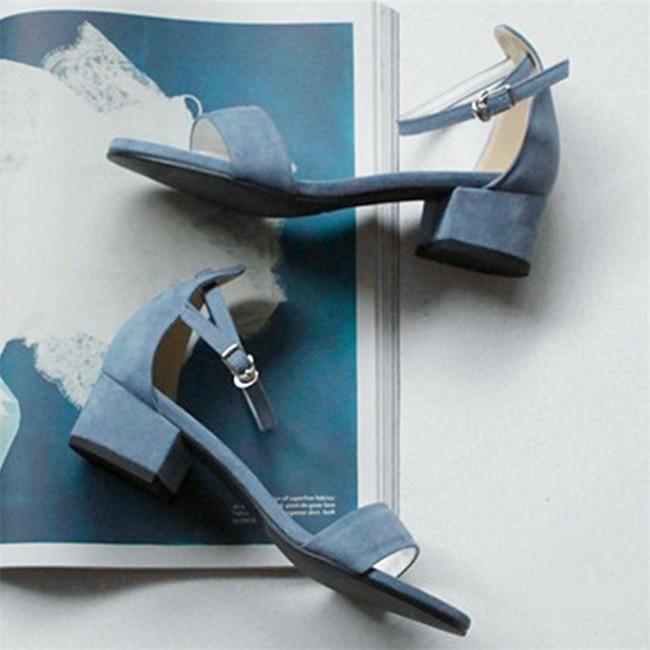 サンダル レディース ストラップサンダル オープントゥ 太ヒール シンプル 美脚 おしゃれ 歩きやすい スエード調 可愛い 5cm 7cm 全2色 大きいサイズ|ngytomato|13