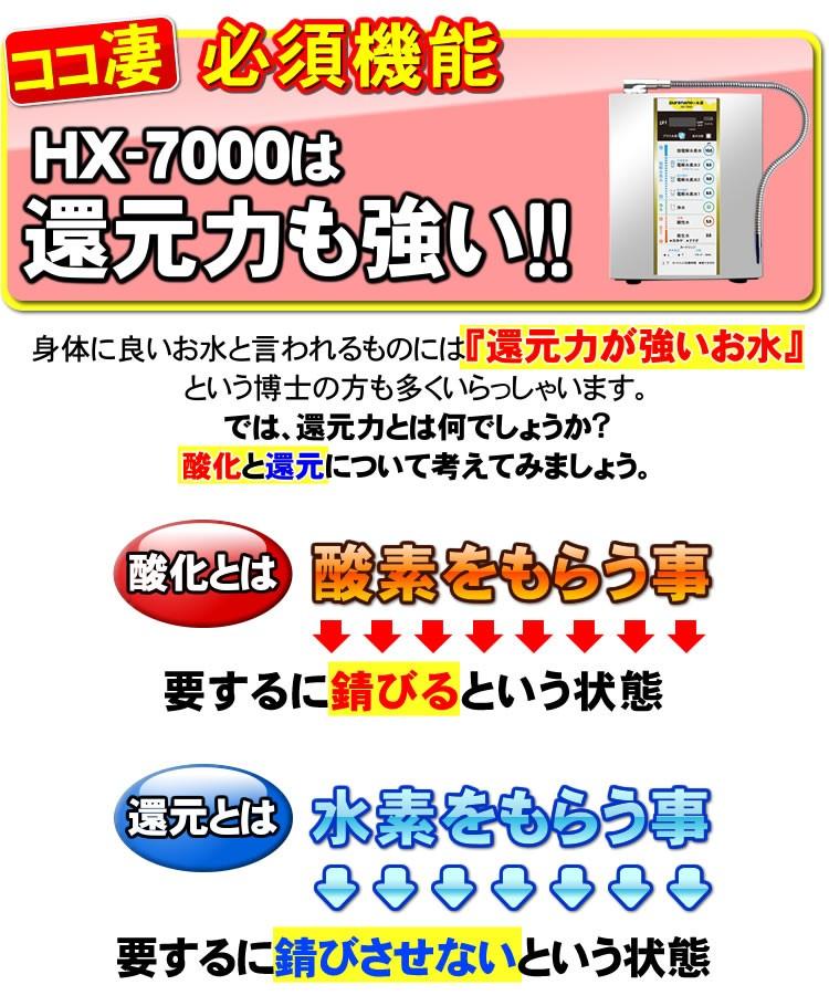 ピュアナノHX7000は還元力も強い!