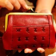 財布 がま口 本革 猫 コインケース