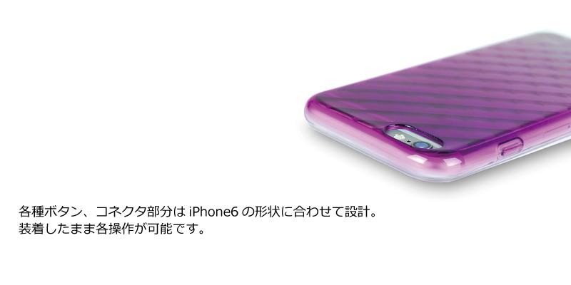 各種ボタン、コネクタ部分はiPhone6の形状に合わせ設計。装着したまま各操作が可能です。
