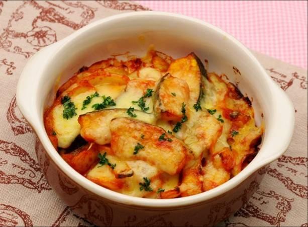 野菜のカレーチーズ焼