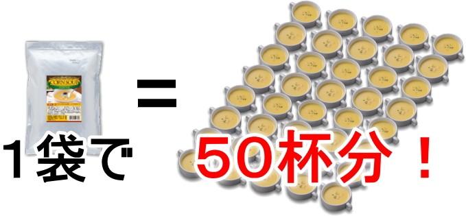 1袋で50杯分