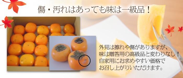 八珍柿、傷・汚れはあっても味は一級品