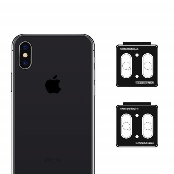 iPhoneXS iPhone XSMax iPhone X カメラレンズ 保護 ガラスフィルム 4枚セット Nimaso nimaso 09