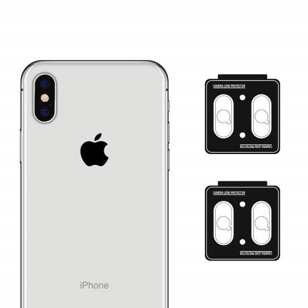 iPhoneX  レンズ保護カメラフィルム  4セッド  ガイド枠付き/貼り付け簡単/超薄型/高透過率/擦り傷防止/自動吸着 Nimaso|nimaso|09