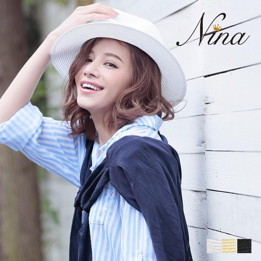 Nina(ニーナ) 中折れツバ広ハット