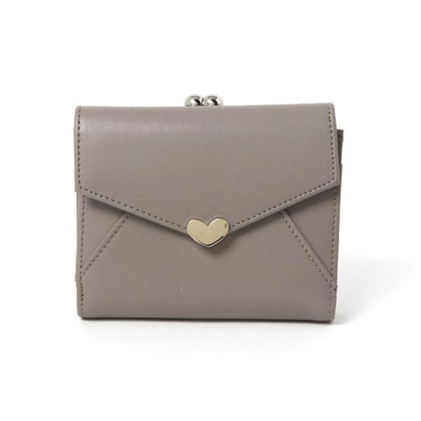 二つ折り財布 レディース 本革 がま口 使いやすい ハートチャーム かわいい おしゃれ 定期入れ 便利な収納 通勤 通学 革 カード 財布 ninon 13